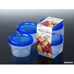 Twist pot 250ml blue 2pcs