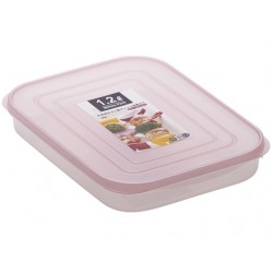 Storage Box wide 1.2L Pink