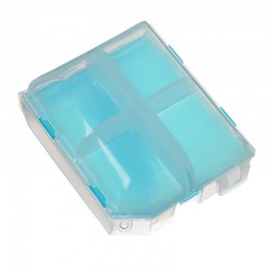 Pill Case 2 Layers Blue