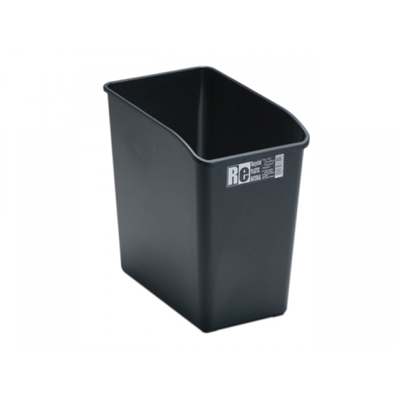 Square Trash Can Black