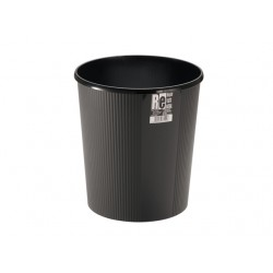 Round Trash Can Black