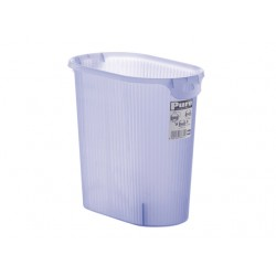 Oblate Trash Can Blue