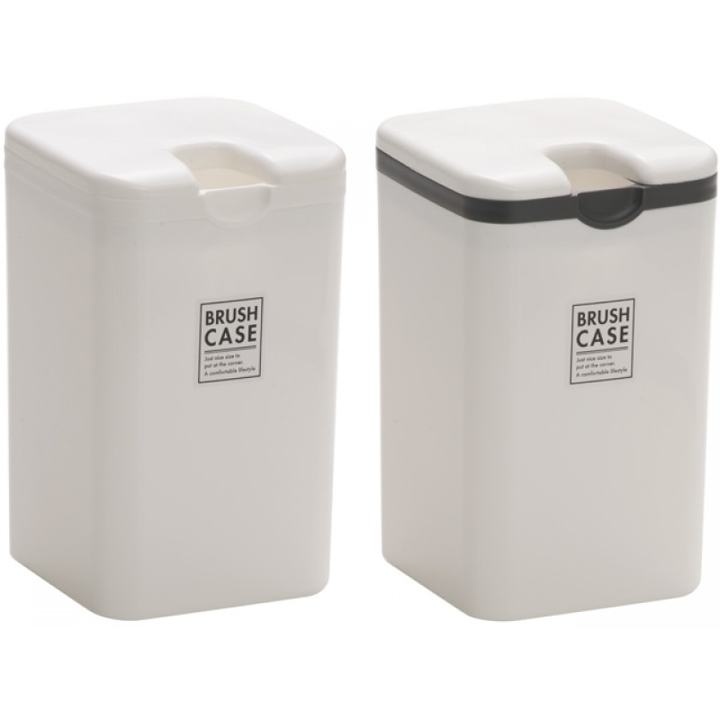 Toilet brush case white