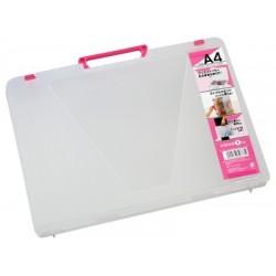 A4 File Case Pink