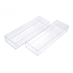 Handy utensils tray clear 2pcs