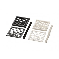 Mini decorative flower lattice fences