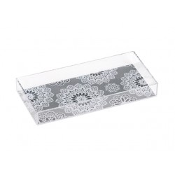 Picture Case Pen Tray White Race Clear