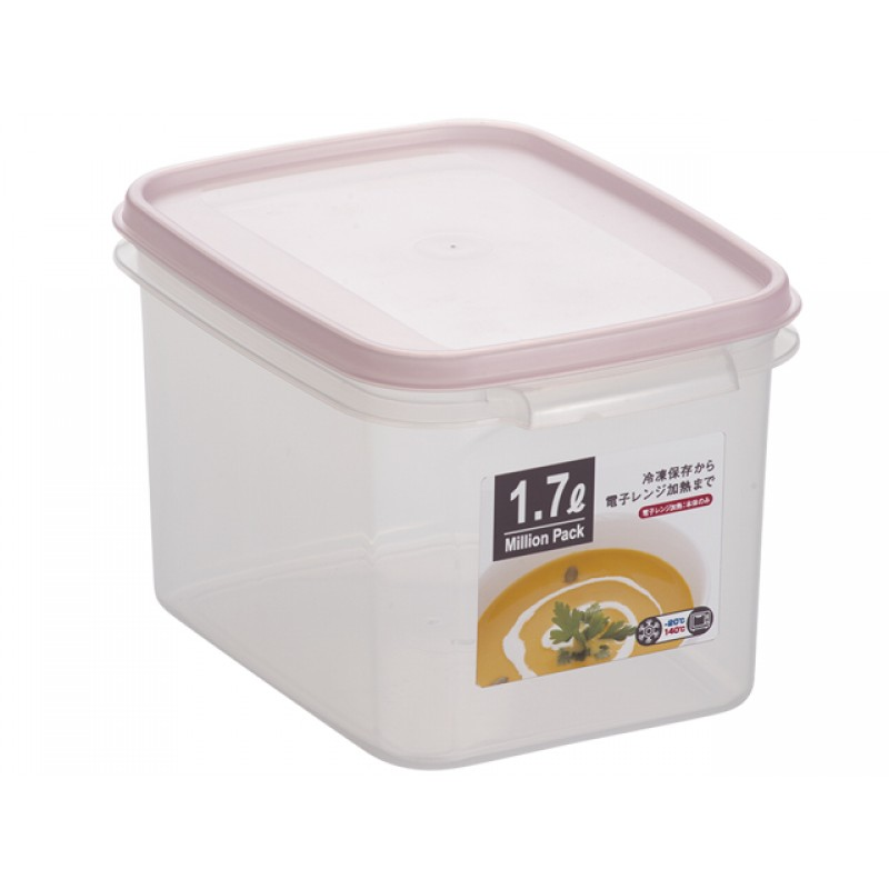 Food Container Depth Type 1.7L Pink