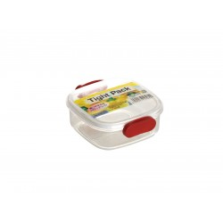 Square tight food storage box red