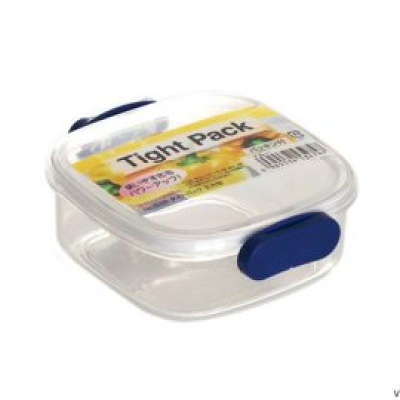Square tight food storage box blue
