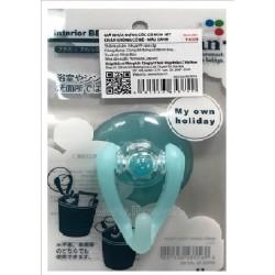 Hook with vacuum knob blue