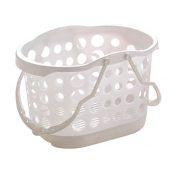 Bath basket white