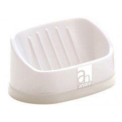 Vertical placement soap stand white