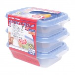Food Storage Boxes blue 200ml 3pcs
