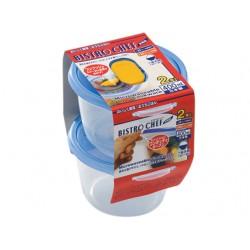 Food Storage Boxes blue 2pcs