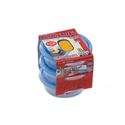 Food Storage Boxes blue 3pcs