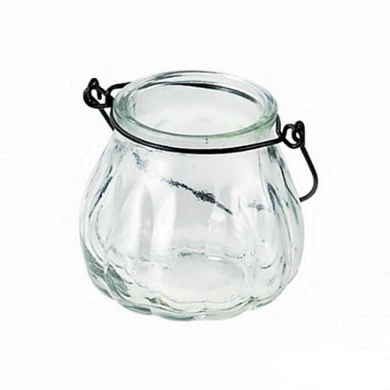 Pumpkin shape glass vase hanging