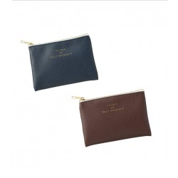 Synthetic leather coin case chic color 80 x 120 mm