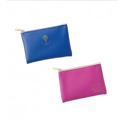 Synthetic leather coin case vivid color 80 x 120 mm