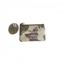 Camouflage coin case 7 cm x 12 cm