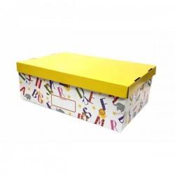 Kids Paper Storage Box 1/2 With Shallow Lid 26 x 38.5 x 13 cm
