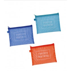 Flat pouch large colorful mesh 180 x 240 mm