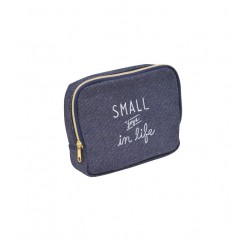 Horizontal type pouch large denim style 120 × 150 x 40 mm