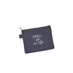 Flat pouch denim style 130 x 170 mm
