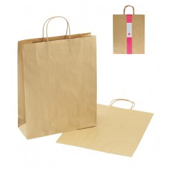 Paper bag LL 2P craft plain color 400 x 320 x 115mm