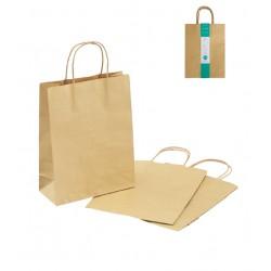 Paper bag M 3P craft plain color 300 × 230 x 100mm