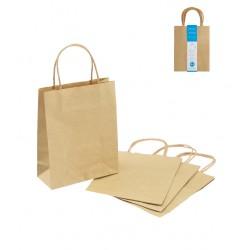 Paper bag S 4P craft plain color 230 x 180 x 80mm