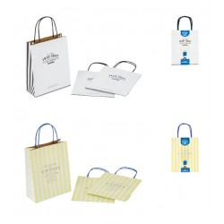 Paper bag S 3 sheets logo 230 x 180 x 80mm