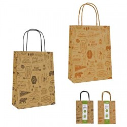 Paper bag S 3 pieces outdoor 230 x 180 x 80mm