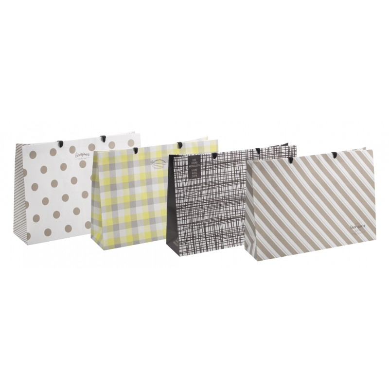 Paper bag 3L horizontal white 390 × 550 x 150mm