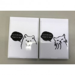 Folding mirror dog  & cat design