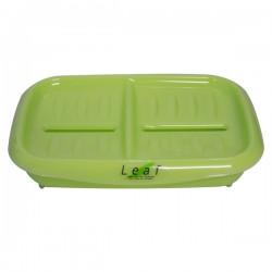 Double Soap Tray Green