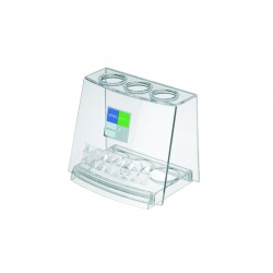 Acrylic toothbrush stand clear