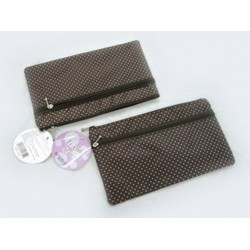 SJI-11655 Textile W Fastener Pouch Dot 4510085116559
