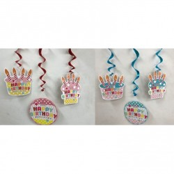 Birthday Swing Ornament 3pcs