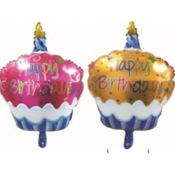 Aluminum  Birthday cake balloon