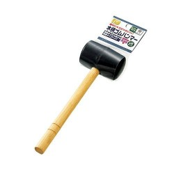 Wooden Pattern Rubber Hammer