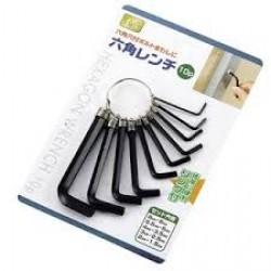 Hexagon wrench 10 pieces set