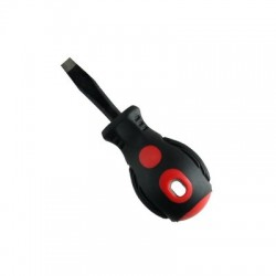Flathead screwdriver with magnet short