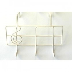 Door Hook Triple Musical Note Design