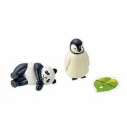 Garden object panda penguin