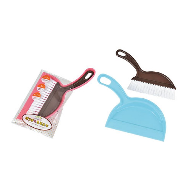 Two-tone color broom & dustpan