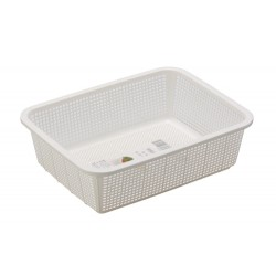 Fruits and Vegetable Basket -White 29.5x22.5x8.5Hcm