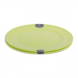 Plastic Plate Set 2P 15cm - Green