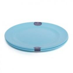 Plastic Plate Set 2P Blue - 15cm
