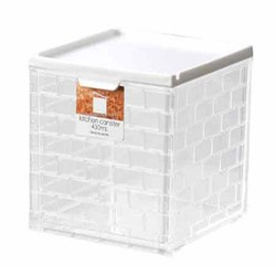 Stylish Clear Square box White 430ml